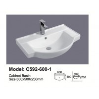 Semi-Reccessed Vanity Top C592-600-1TH