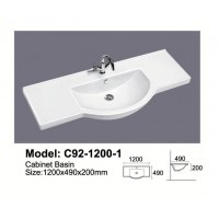 Semi-Reccessed Vanity Top C92-1200S-1TH
